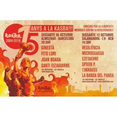 Kasba Music celebra 15 anys el 13 de setembre